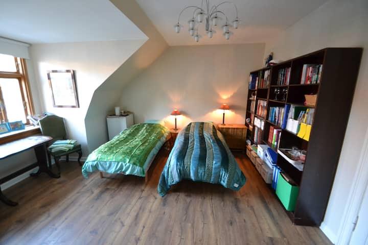 City villa - spacious double room with cosy garden