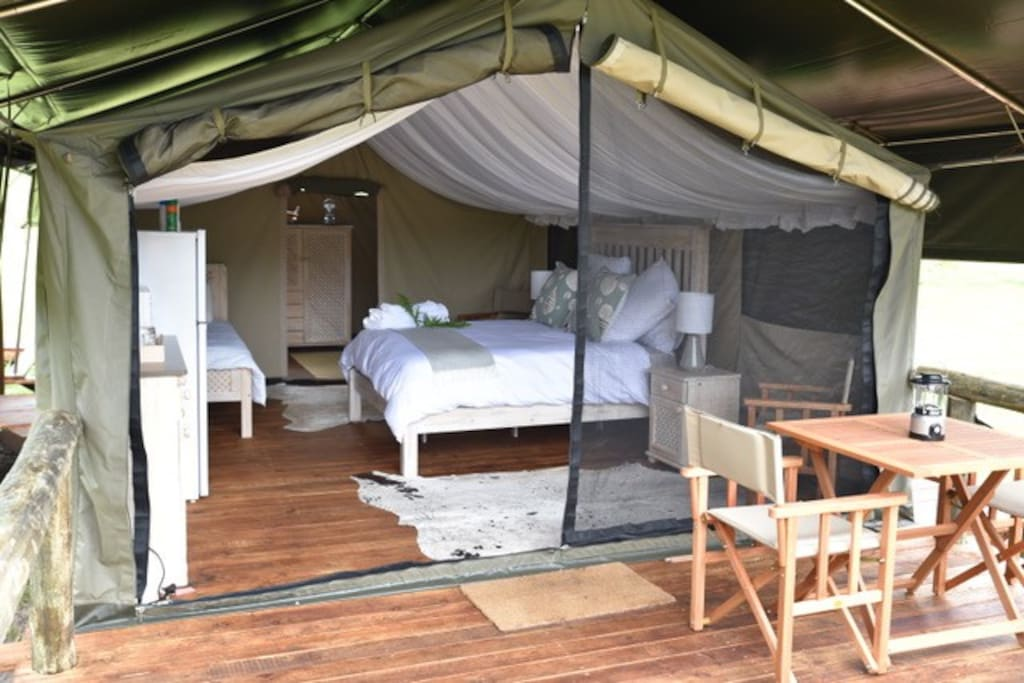 Fully equipped luxury tent