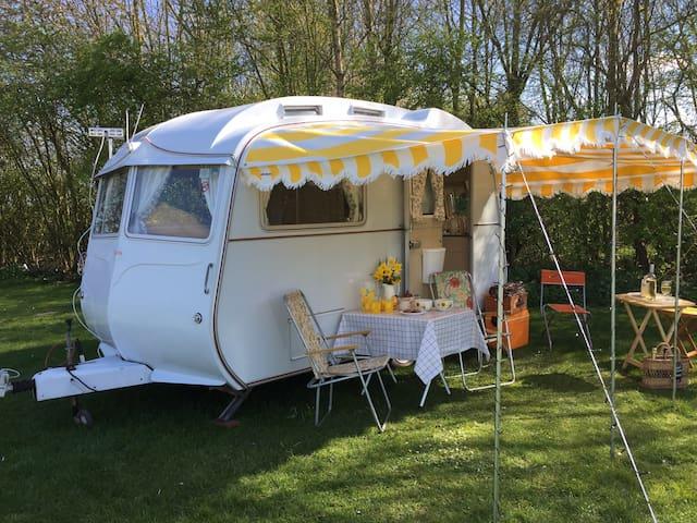 'Cassie'  Adorable vintage 1970's Carlight caravan