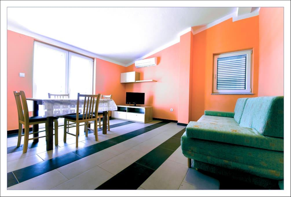 """Apartment """"L"""" - living room"""