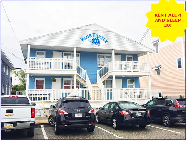 2 BR/1 BA on 57th Oceanside! Sleeps 8. Unit #3