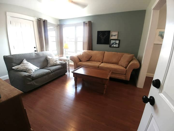 Spacious, clean & bright apt steps to Depot Town