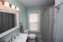 Brand new bathroom- ceramic tile shower and ceramic tile floors.