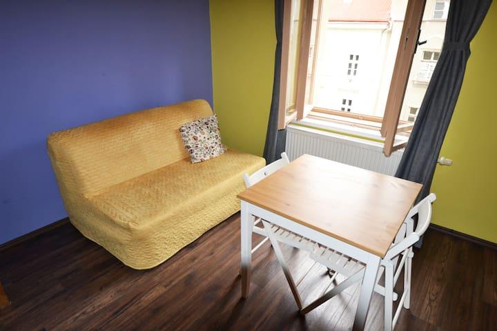 Warm studio apartment close to the Prague Center