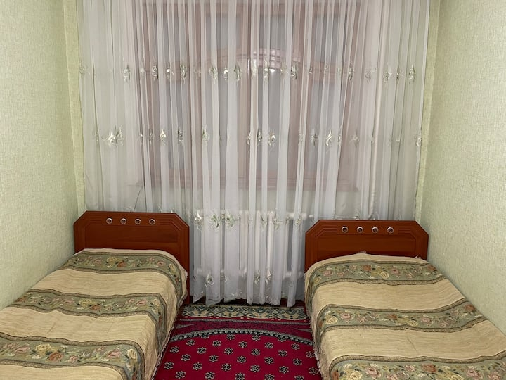 Great room with Uzbek approach and services.
