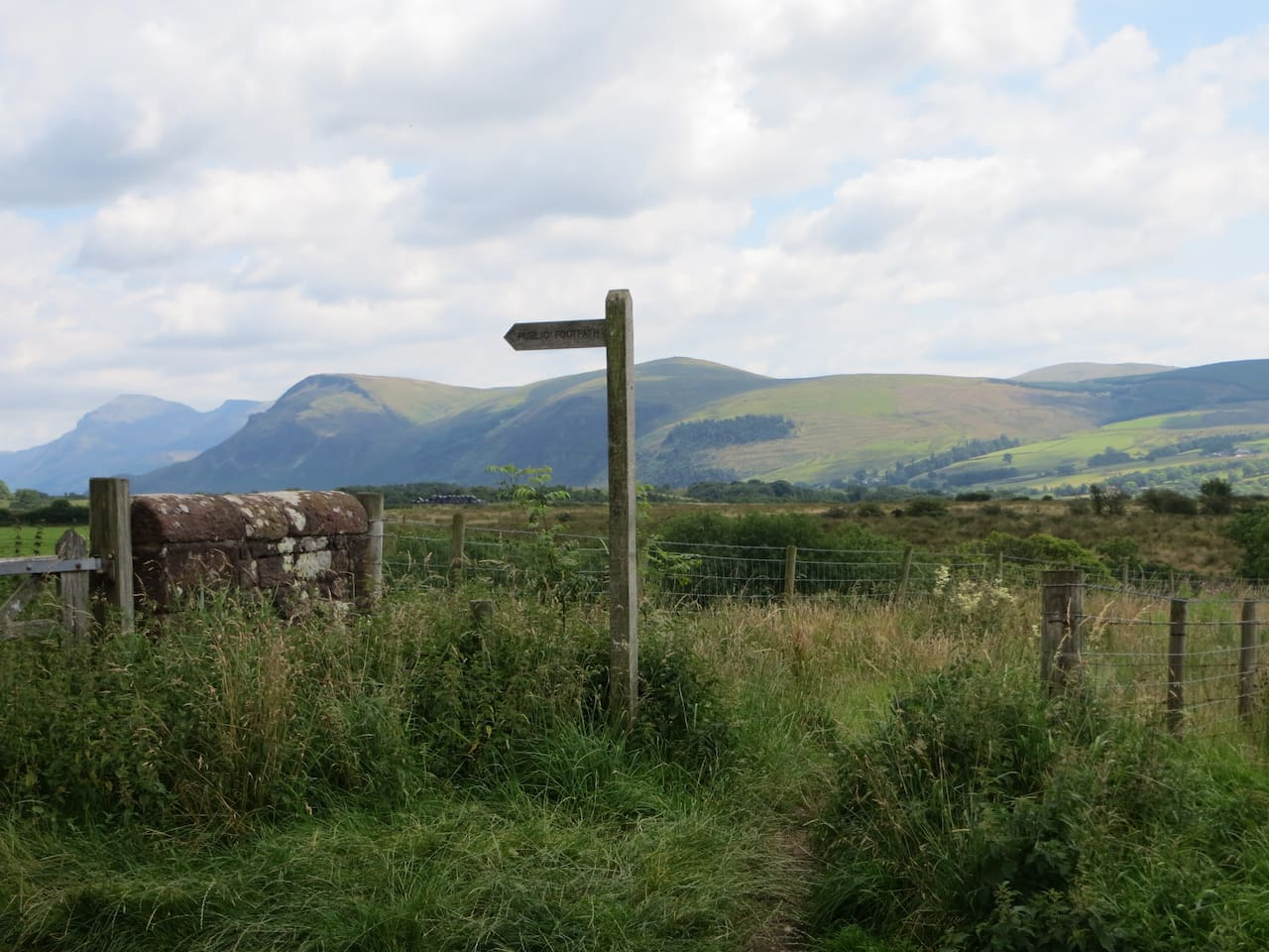 Towards Ennerdale valley from the house