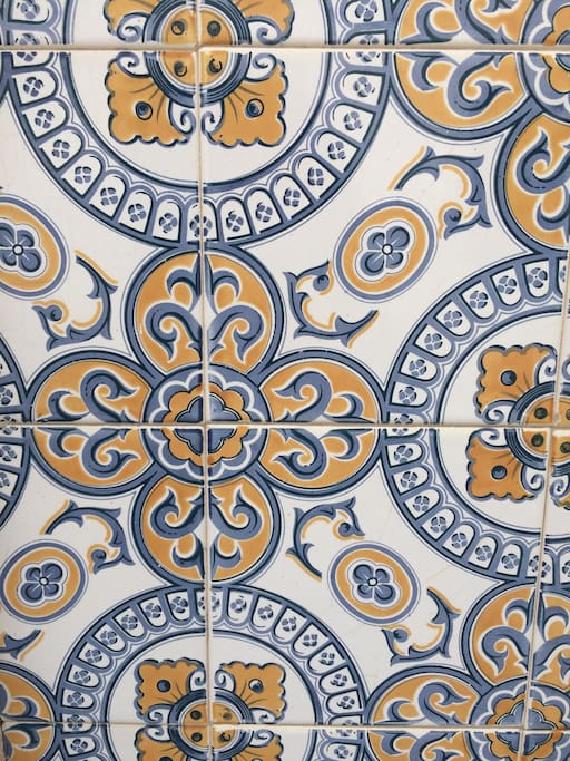 Beautiful tiles on our home