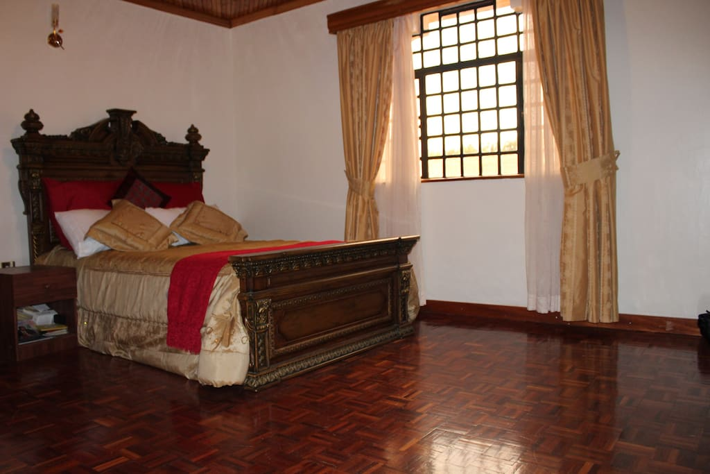 Bedroom with beautiful double bed