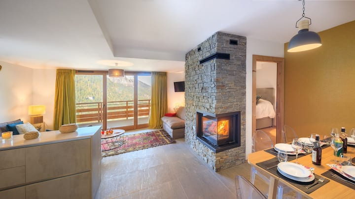 Apartment 6 pp - fireplace, close center and ski