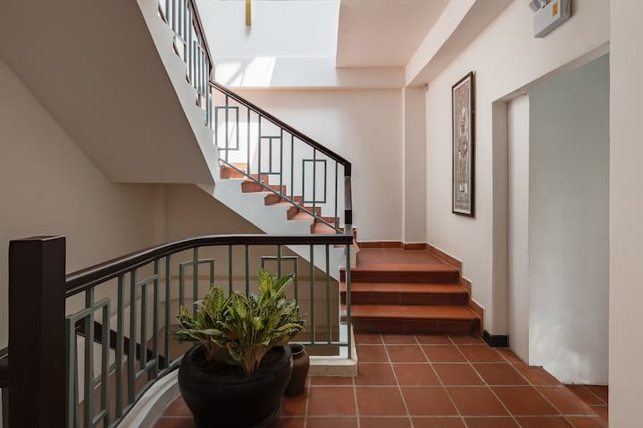 Public stairway inside the property leading to your apartment. We also have an elevator for your convenience.