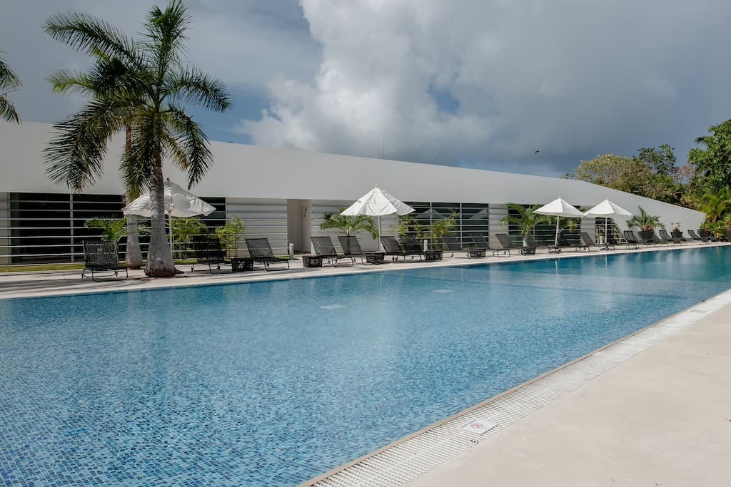 Pool at the Club House, toilet facilities are available