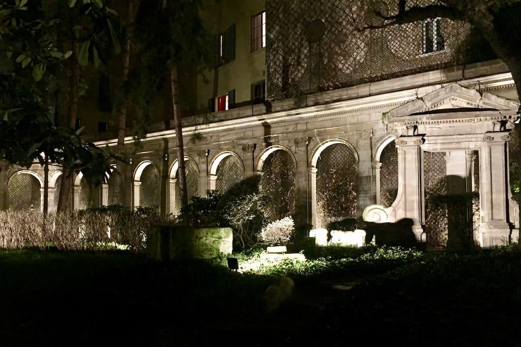 Historical Garden's Romantic night time illumination