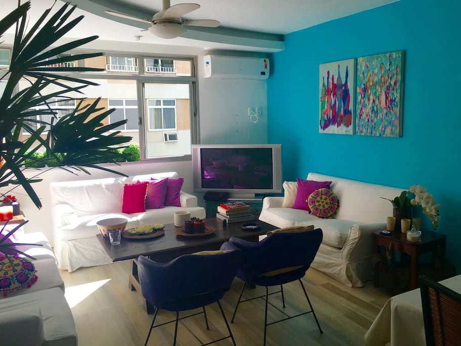 Living room full of light and colors