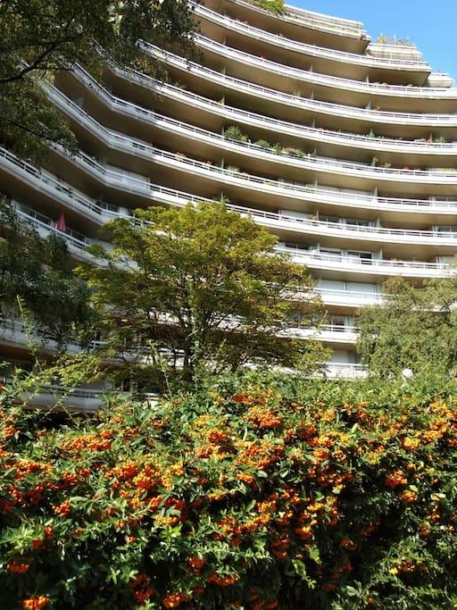 A modern building