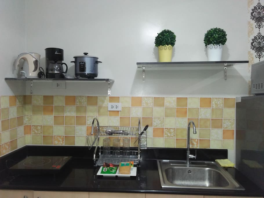 Kitchen with cooking facility
