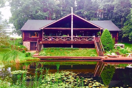 Luxurious Grand Log Cabin - Millersburg - Casa