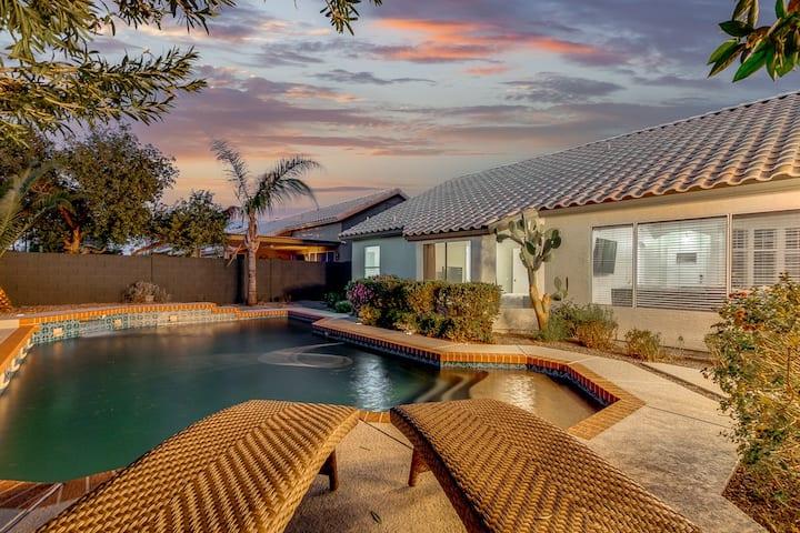 Backyard Desert Oasis with Pool in North Phoenix