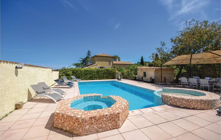 Amazing home in Bourg Saint Andeol with Outdoor swimming pool, WiFi and 5 Bedrooms