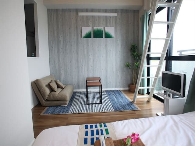 Naha Centre! 1BR with Loft Space #24