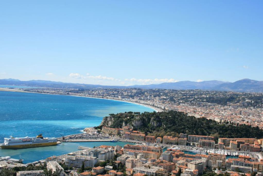 Beautiful Nice! View of the port. This is where the ferry to Corsica departs.