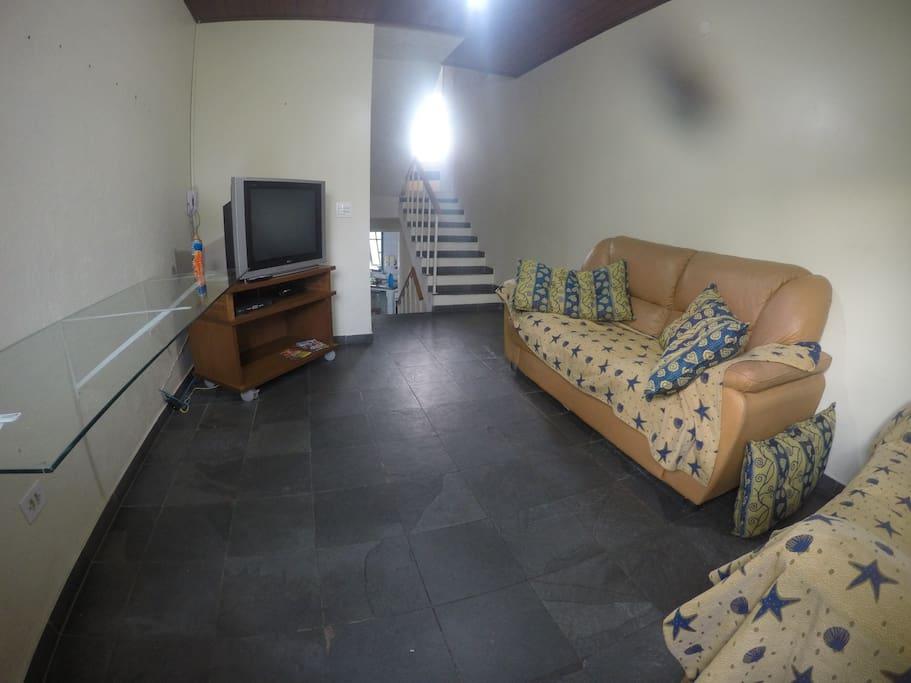 Sala. Detalhe da Escada entre pavimentos