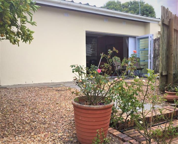 Central living with a garden