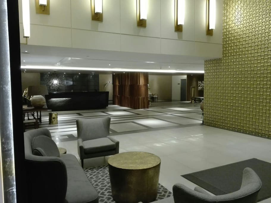 lobby sofa and front reception