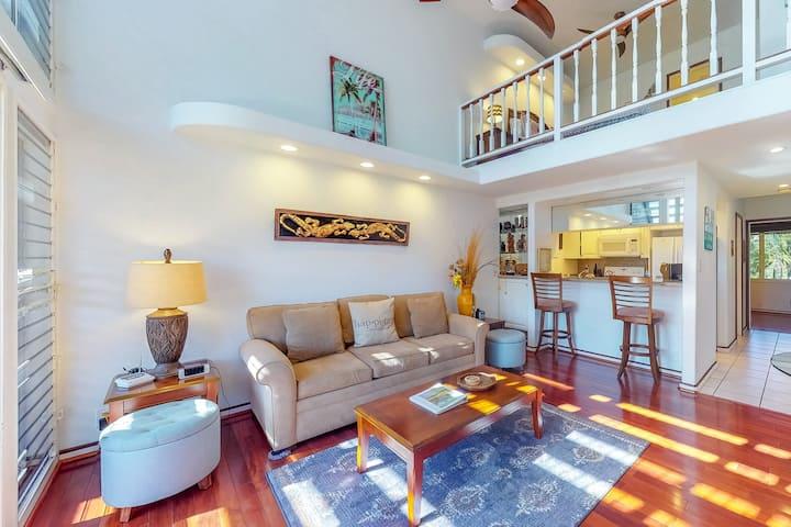 New listing! Airy condo w/shared pool/hot tub, steps to beach & Kihei activities
