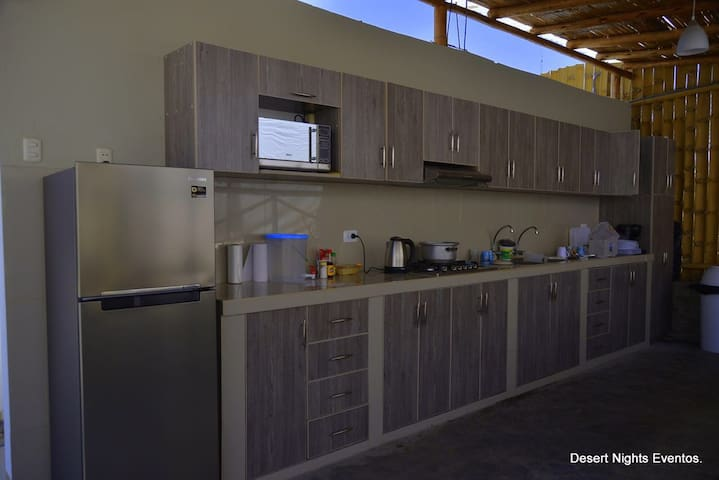 Kitchen for guests use