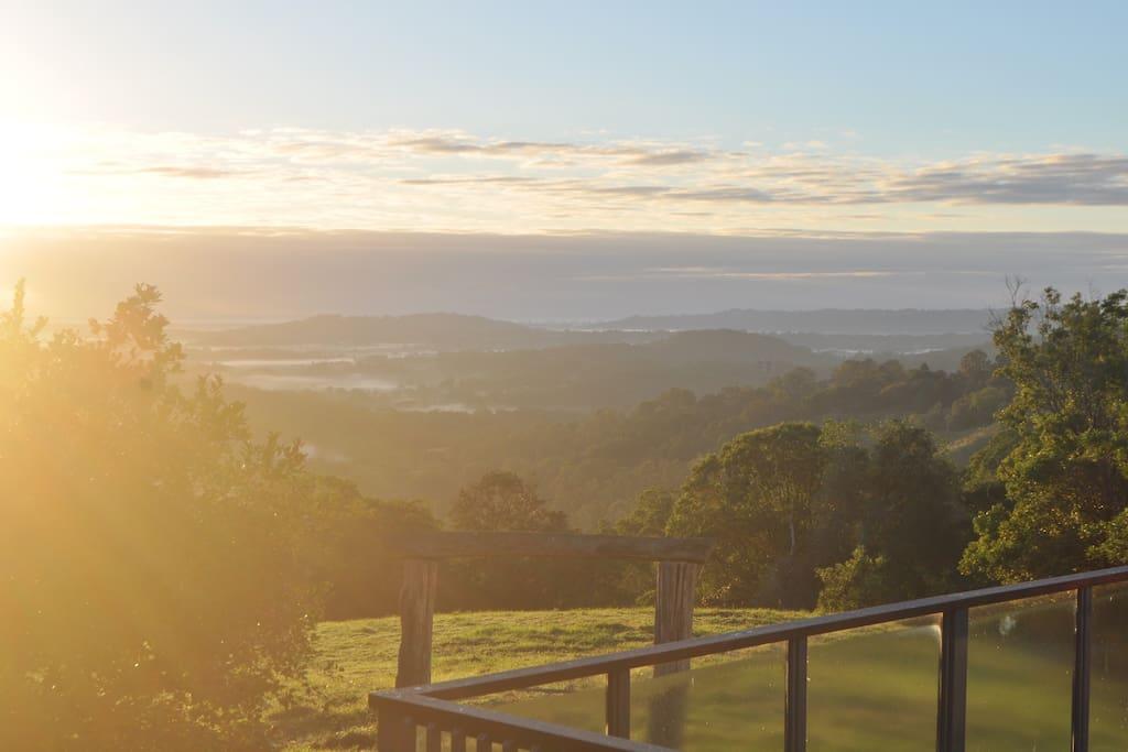 Our dawn view
