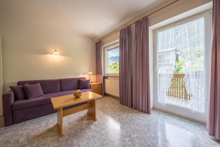 Charming Apartment I in Residence Margreth with Mountain View, Balcony, Garden, Terrace & Wi-Fi; Parking Available; Pets Allowed