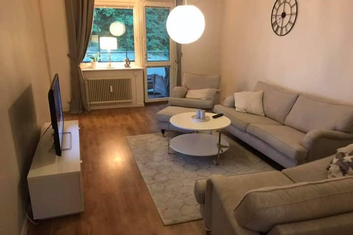 welcoming, fresh apartment in Gothenburg