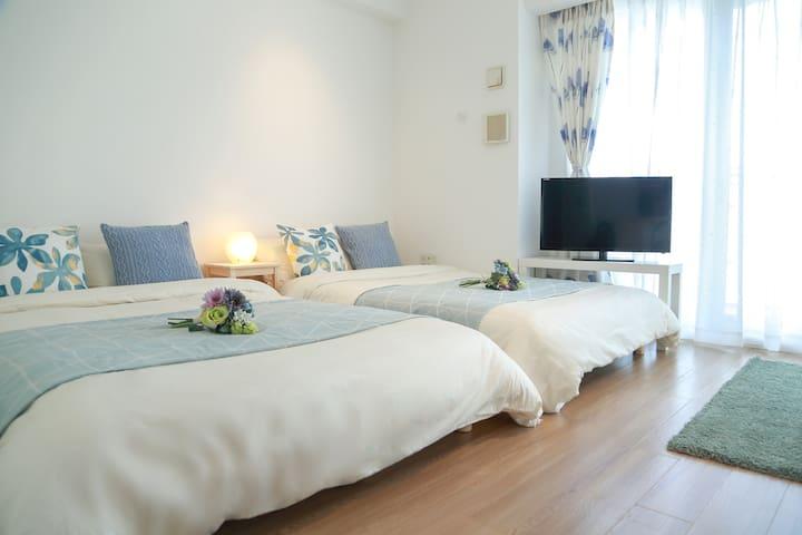 5min Shinsaibashi☆9ppl☆Top floor☆Free wifi - Chuo Ward, Osaka - Apartment