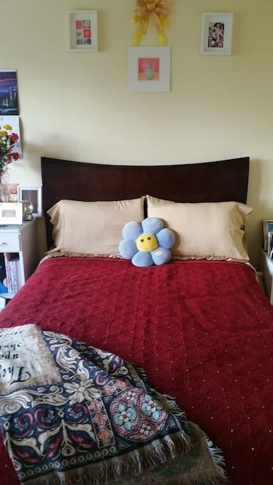 This room (Bedroom #1) is perfect for families w/children or anyone who enjoys airy,cozy space. We also have Bedroom #2 to rent)