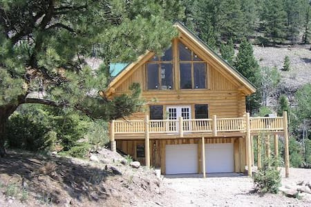 Mtn house river frontage waterfall view 9k' all yr - Lake City
