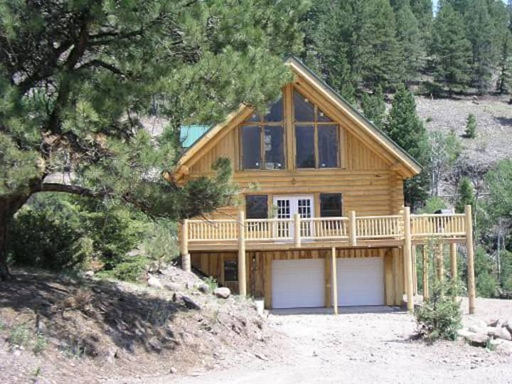 5 bd Mtn house river front waterfall view 9k elev