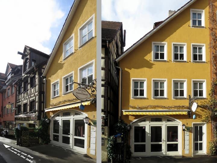 Atelier Probst- Spitalgasse 2, (Meersburg), Ferienwohnung M1, 32qm, 1 Wohn-/Schlafraum, max. 4 Personen