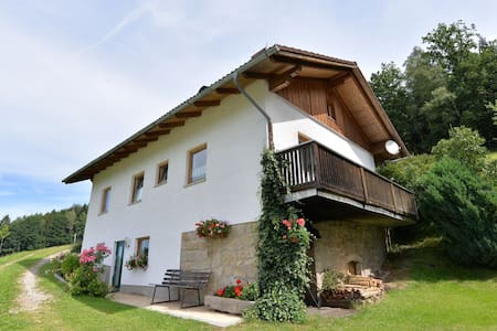 Beautiful holiday home on a farm in the Bavarian Forest with a great view.