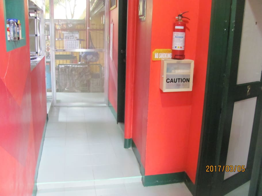 The entrance door to the units opens to this passage to the bedrooms to the right and toilet and shower to the left of Hallway