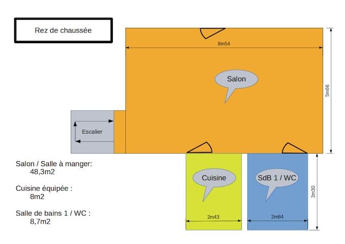 Plan Rez de chaussée / Ground floor