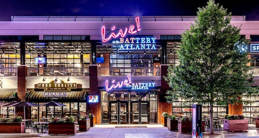 Walk to the Battery Atlanta for some entertainment. Never a dull moment at the Battery!