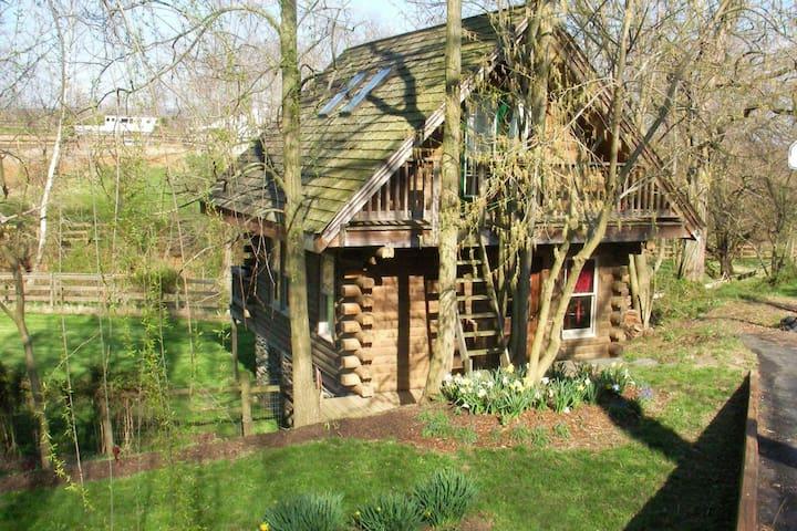Serene Log House Nestled Among the Battlefields