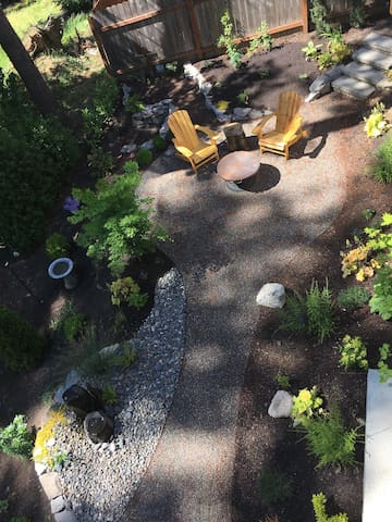 Firepit or relaxed seating as secondary location for reading or evening conversation.