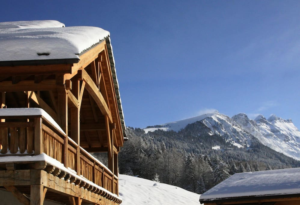 Chalet and ski field