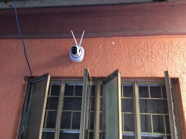 Cctv camera outside the house