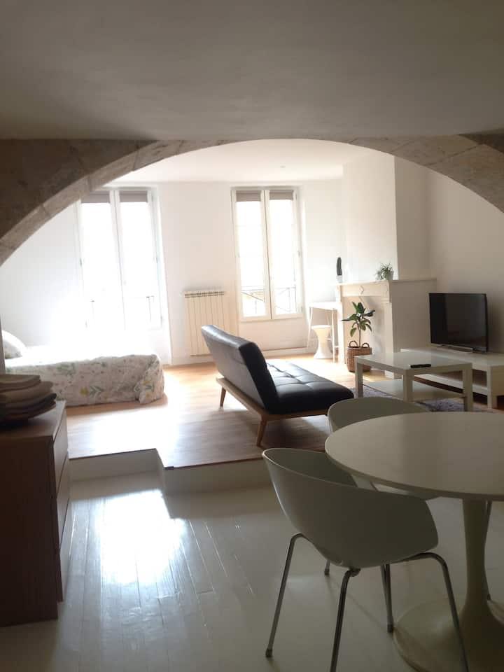 Studio meublé haute ville Auch 45m2 juillet /août