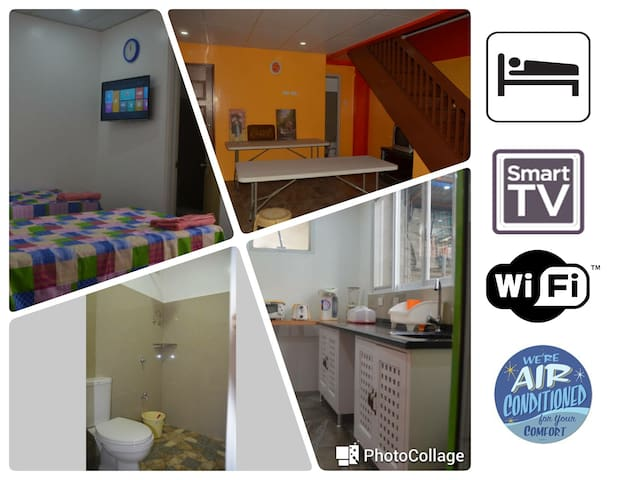 2:CityCenter AirCon Pvt-Toilet&Bath smartTV WiFi - Davao City - Bed & Breakfast