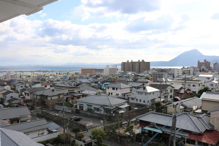 3min to Station& close to Hot springs. +Free WIFI - 別府市