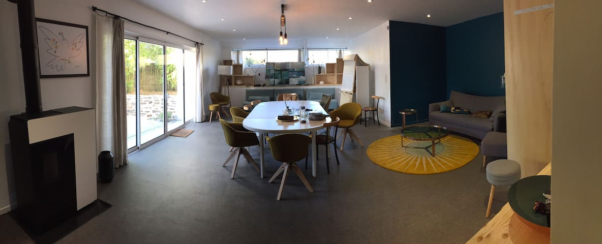 Atelier appartement avec jardin