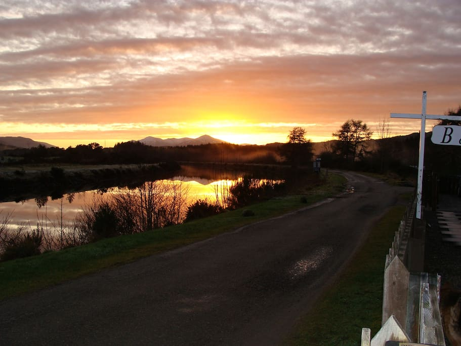 Sunset looking down the Caledonian Canal
